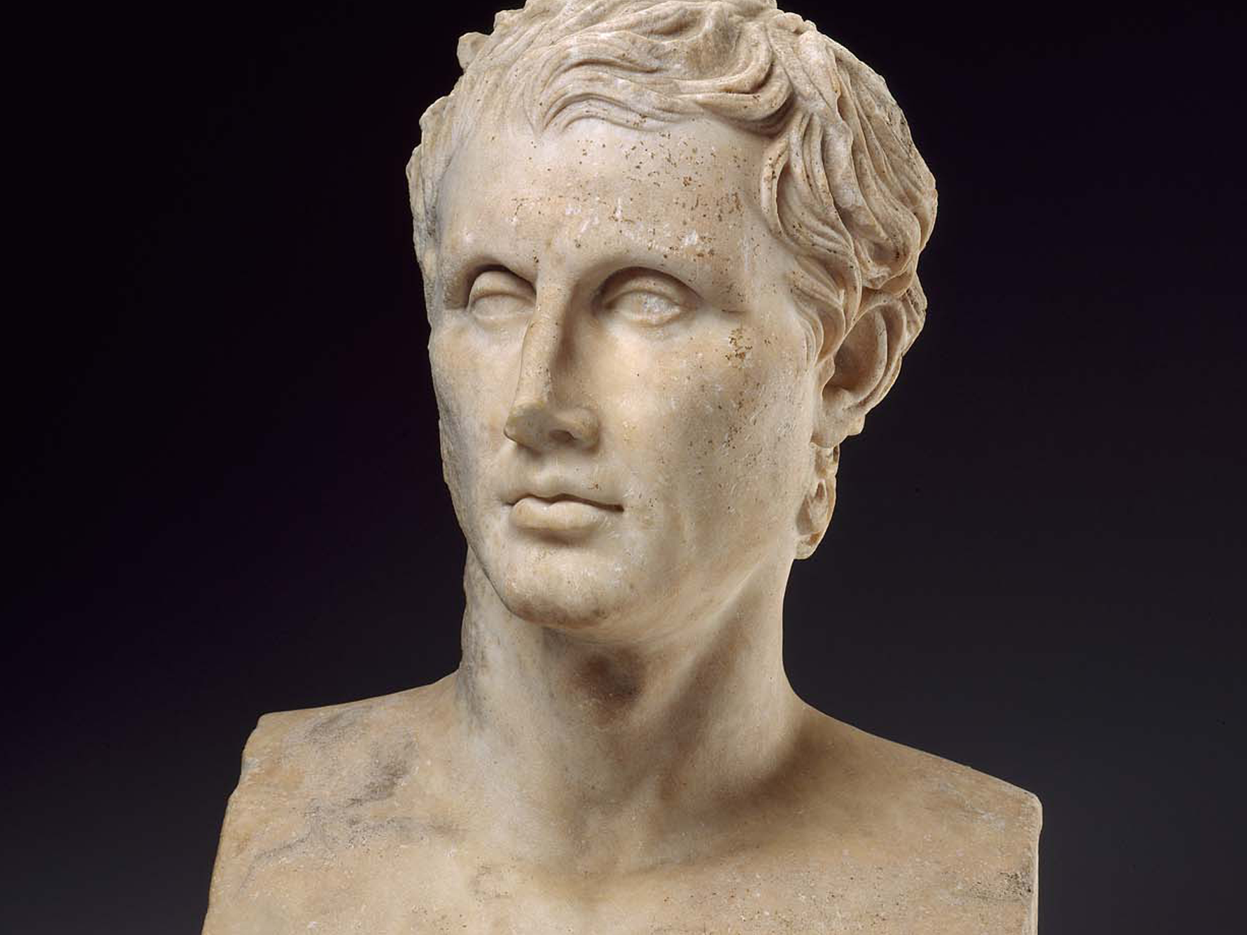 Herm-bust of Menander, Roman, Imperial Period, Late 1st century BC or early 1st century AD