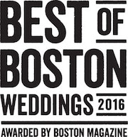 Best of Boston Weddings 2016, Awarded by Boston Magazine