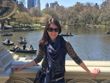 Erika Gorman at Central Park in New York City