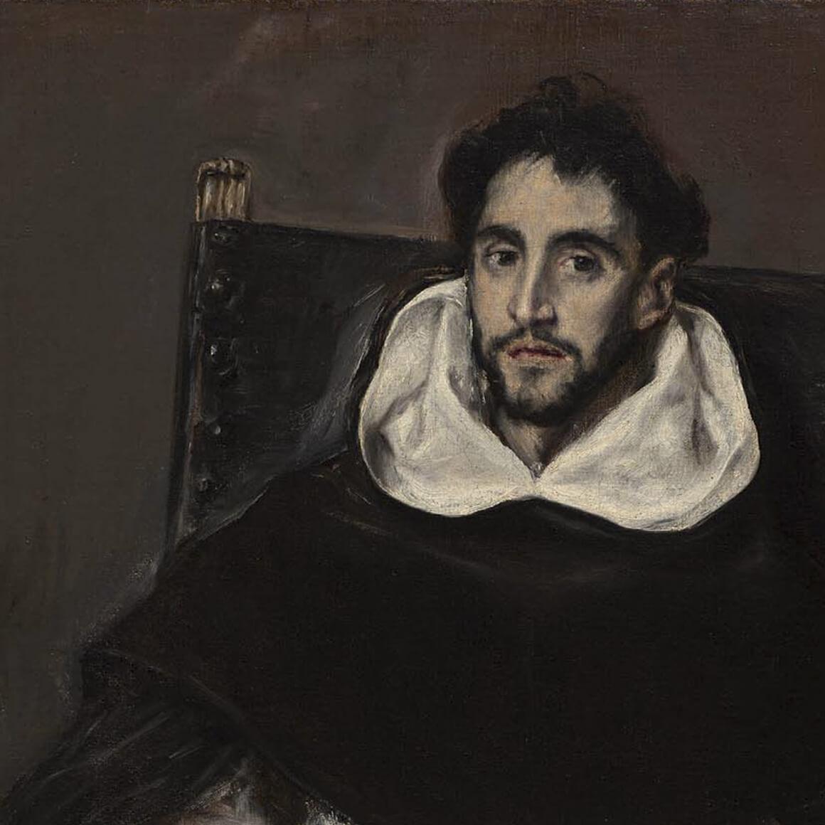 Detail of El Greco's painting, Fray Hortensio Felix Paravicino
