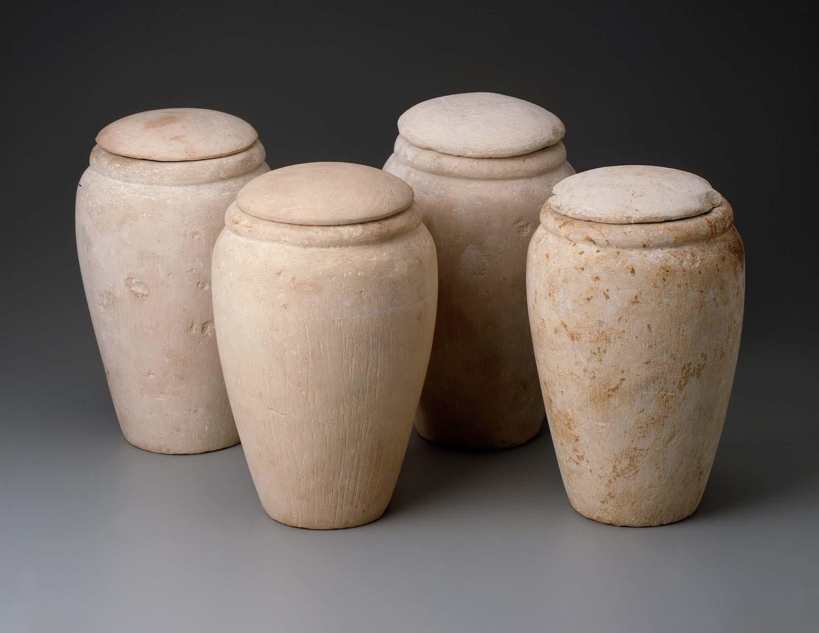Set Of Canopic Jars Museum Of Fine Arts Boston