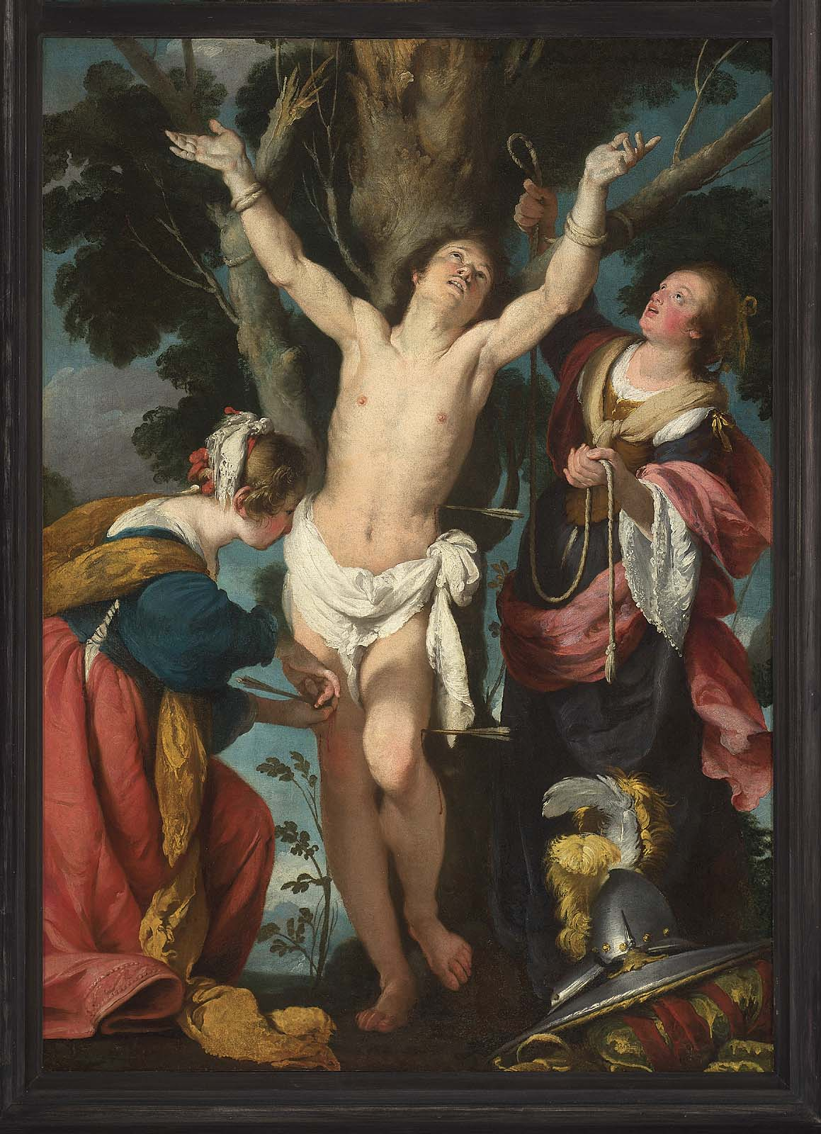 Saint Sebastian Tended By Saint Irene And Her Maid