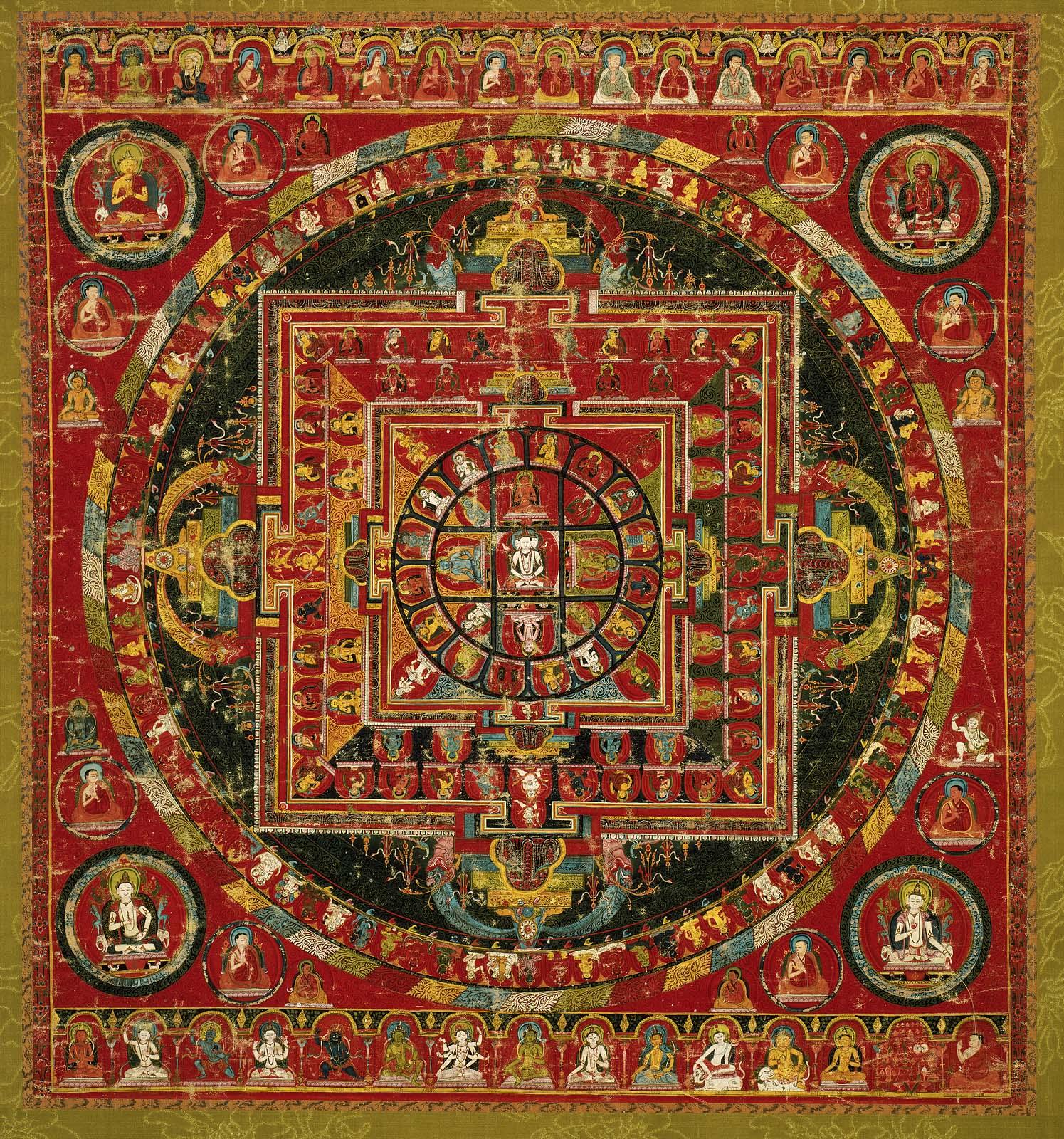 Mandalas: las ruedas budistas usadas en meditación. SC11017