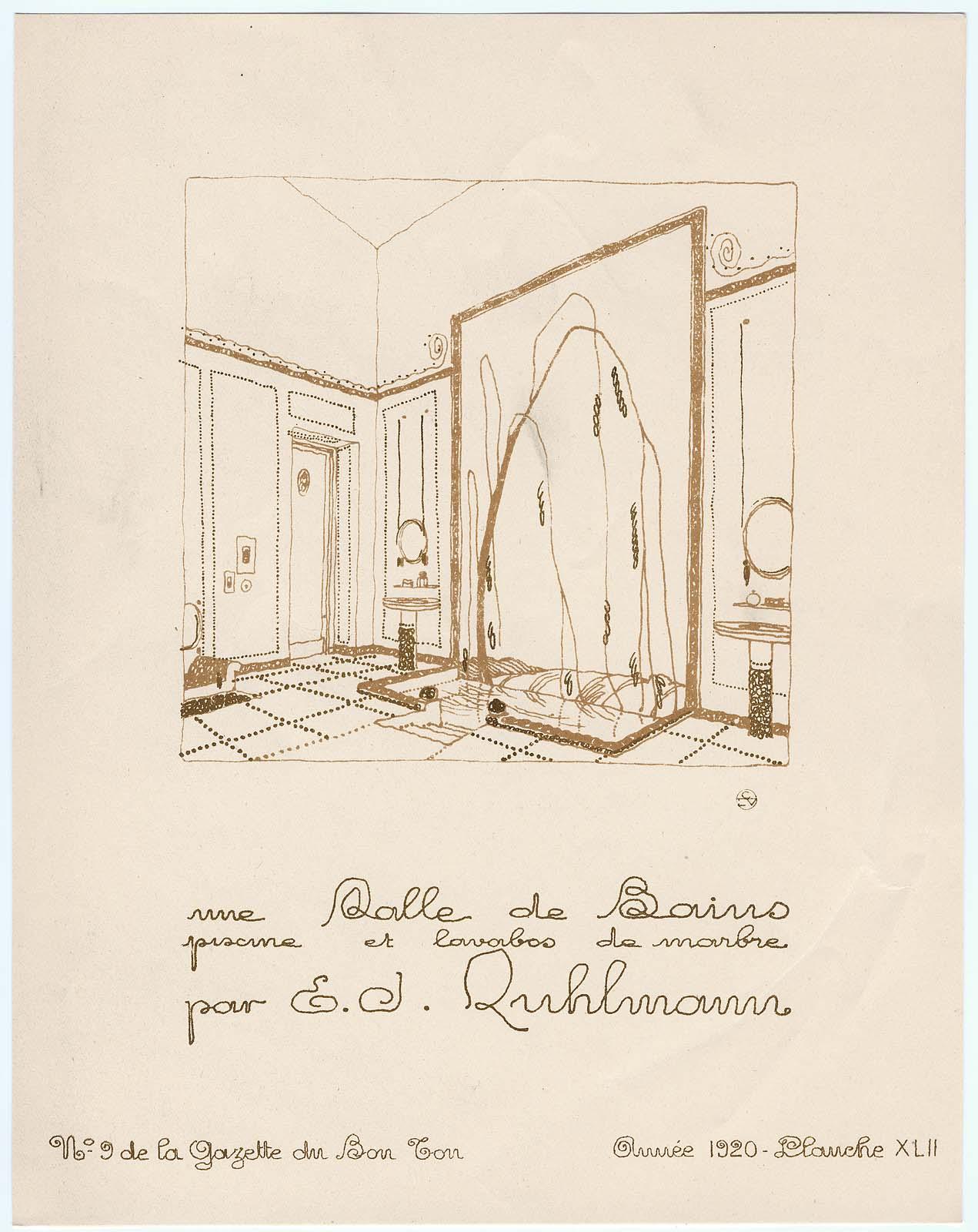 Mfa images fashion illustrations museum of fine arts for Croquis salle de bain