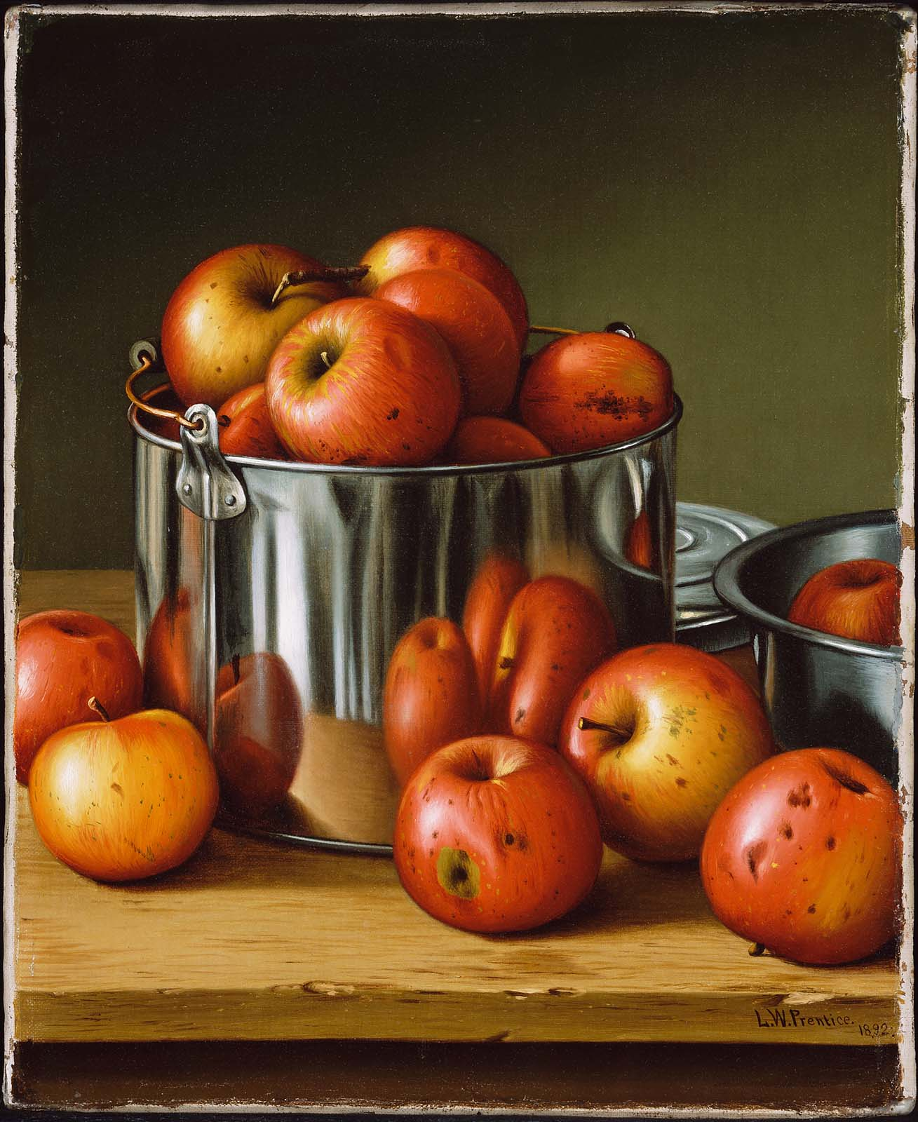 Apples in a tin pail museum of fine arts boston for Wine and paint boston