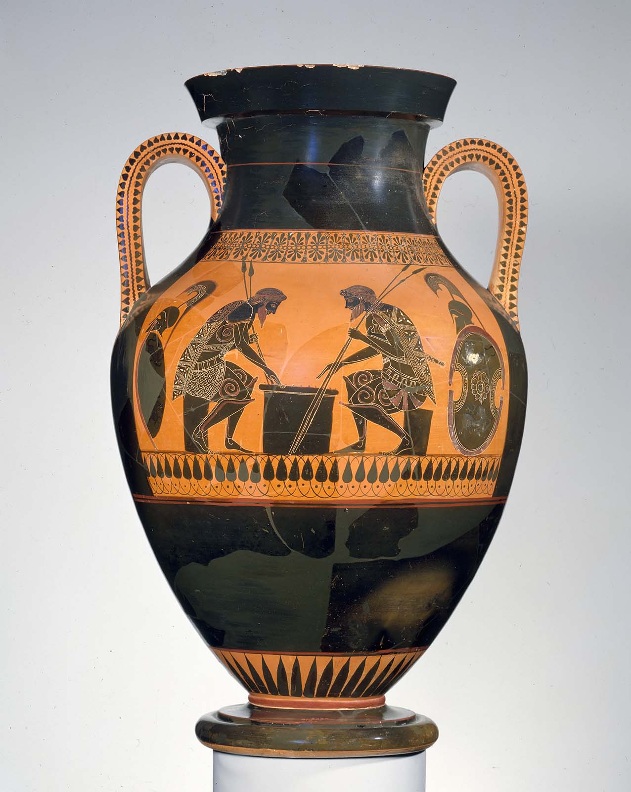 Type A amphora, Ajax and Achilles playing dices – Exekias ...