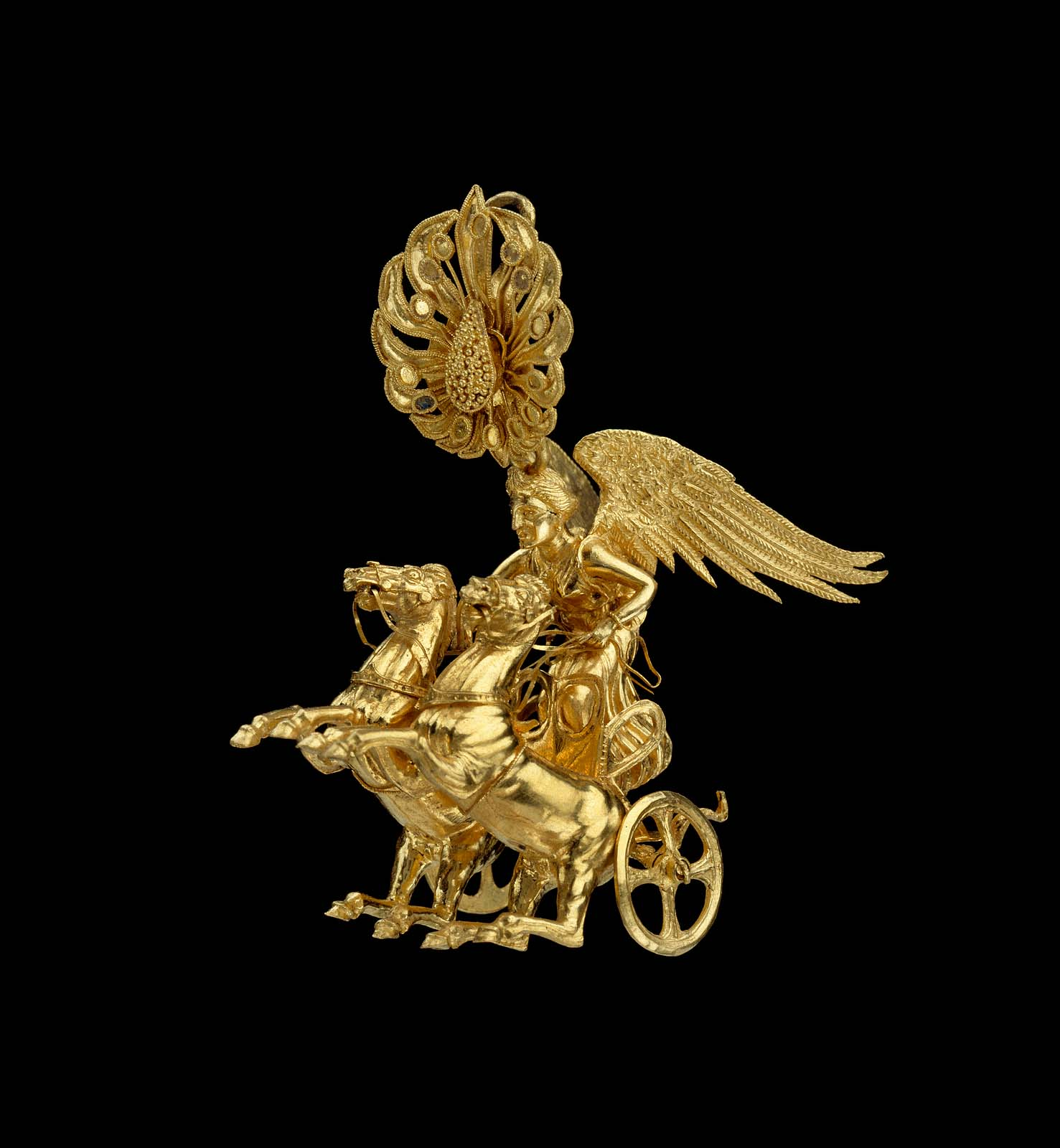 Earring With Nike Driving A Two Horse Chariot Museum Of
