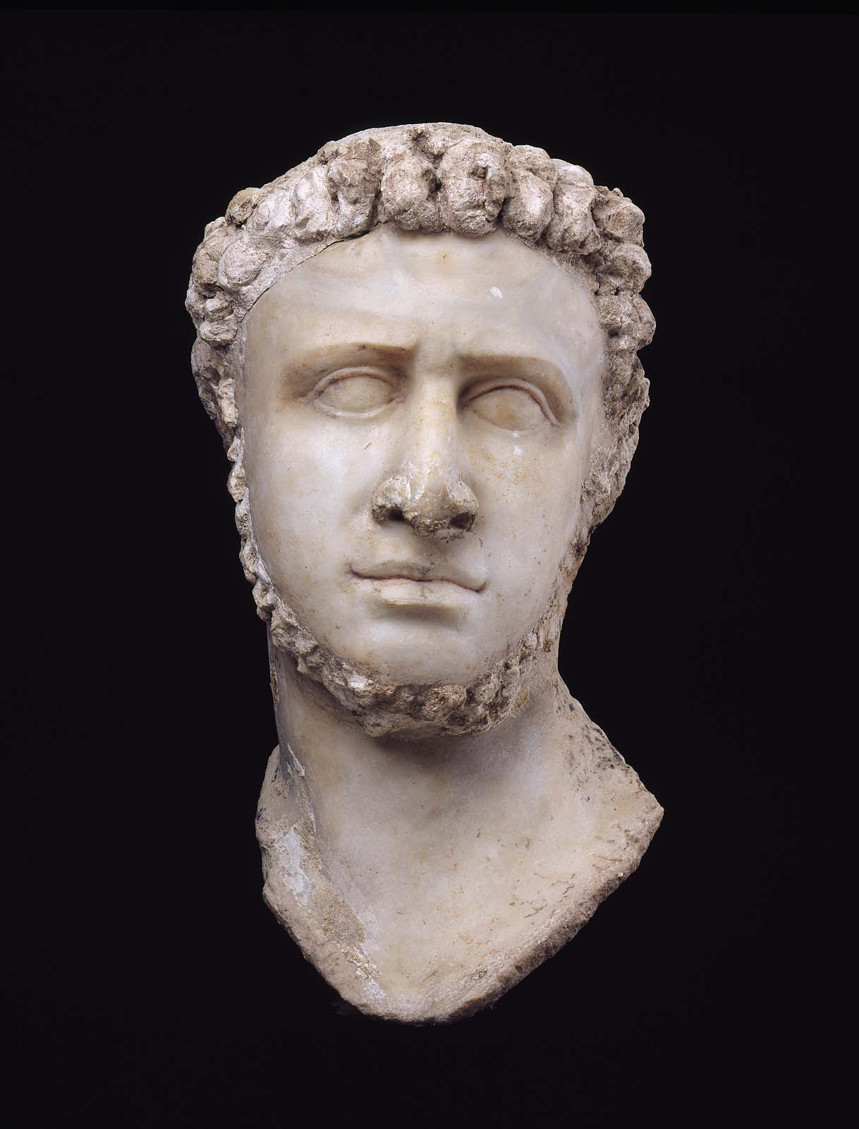 Portrait Head Of A Late Ptolemaic Ruler Ptolemy Ix