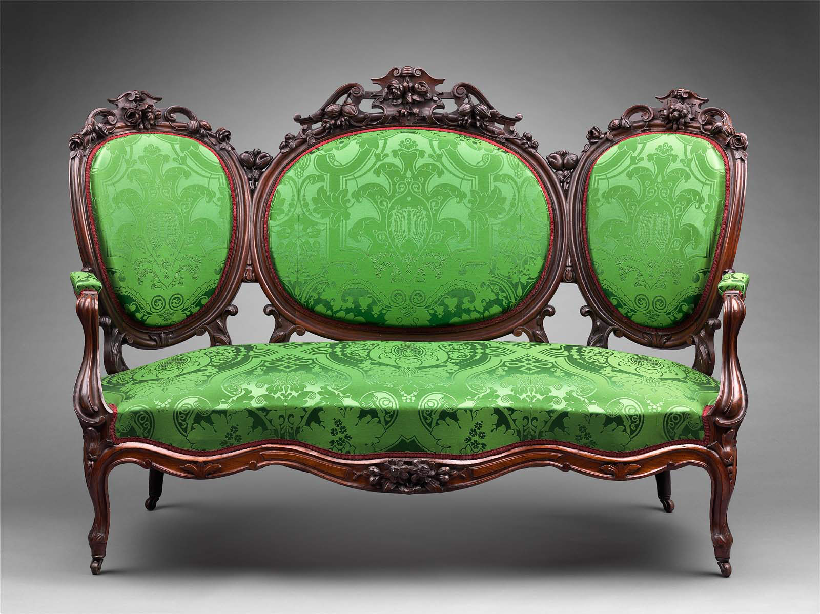 Sofa From A Rococo Revival Parlor Set Museum Of Fine
