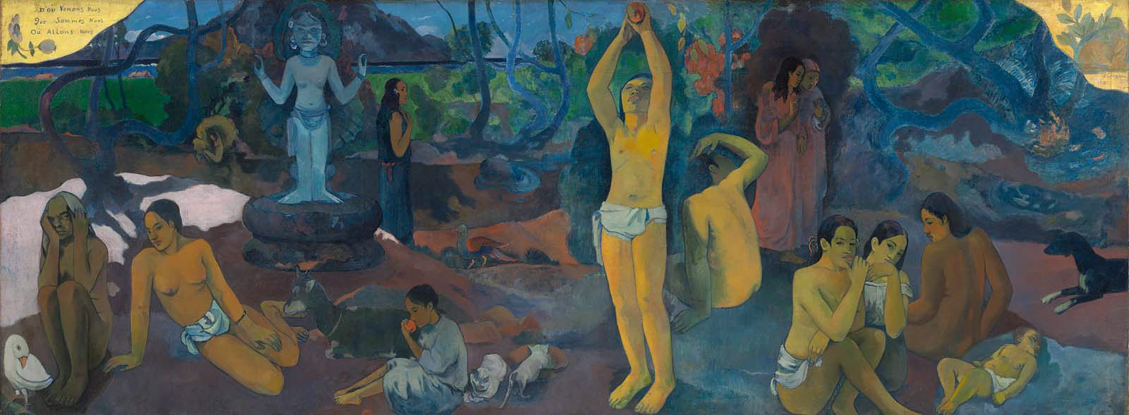 Paul Gauguin, Where Do We Come From? What Are We? Where Are We Going? 1897-98. Collection of the Museum of Fine Arts, Boston