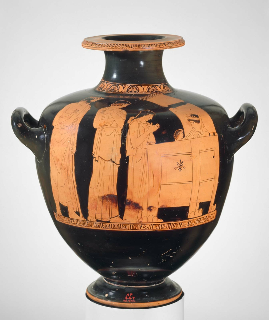 Water Jar Hydria With Myth Of Danae And Perseus Museum