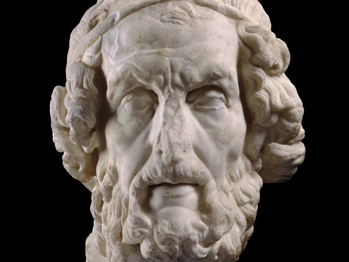 Roman, bust of Homer