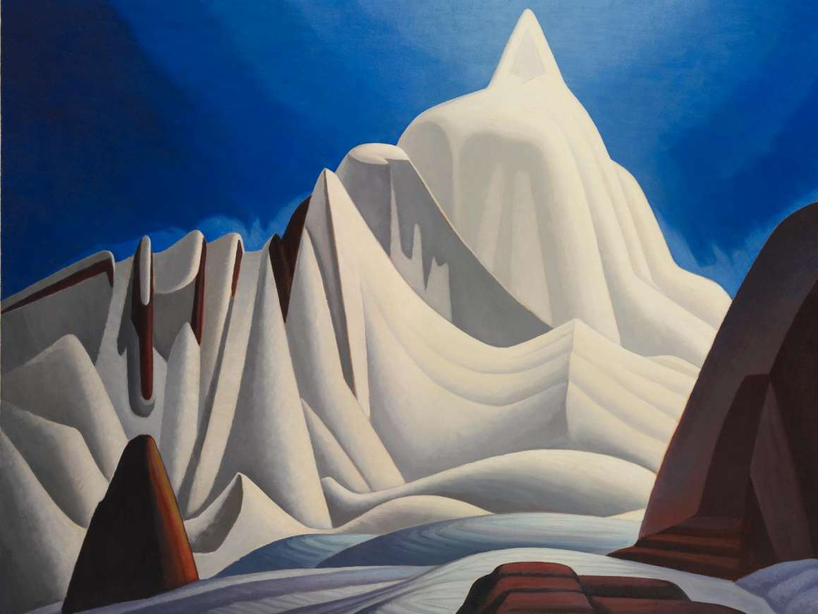 Lawren Harris, Mountains in Snow: Rocky Mountain Paintings VII, 1929