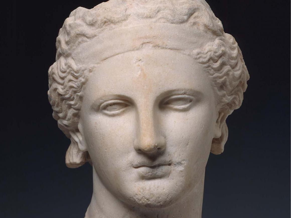 Greek period bust of Dionysos