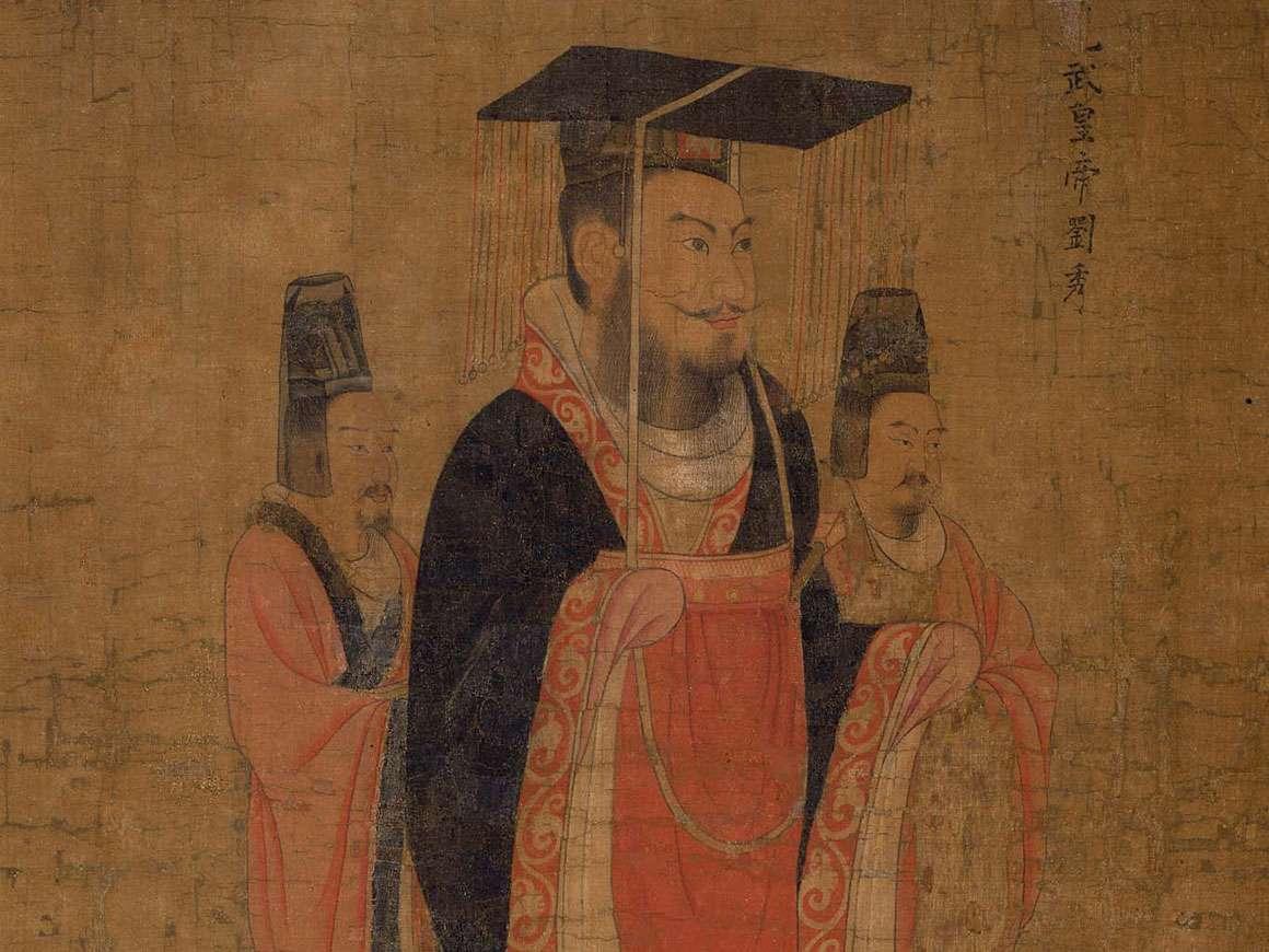 绘画细节,十三位皇帝,归于阎立本