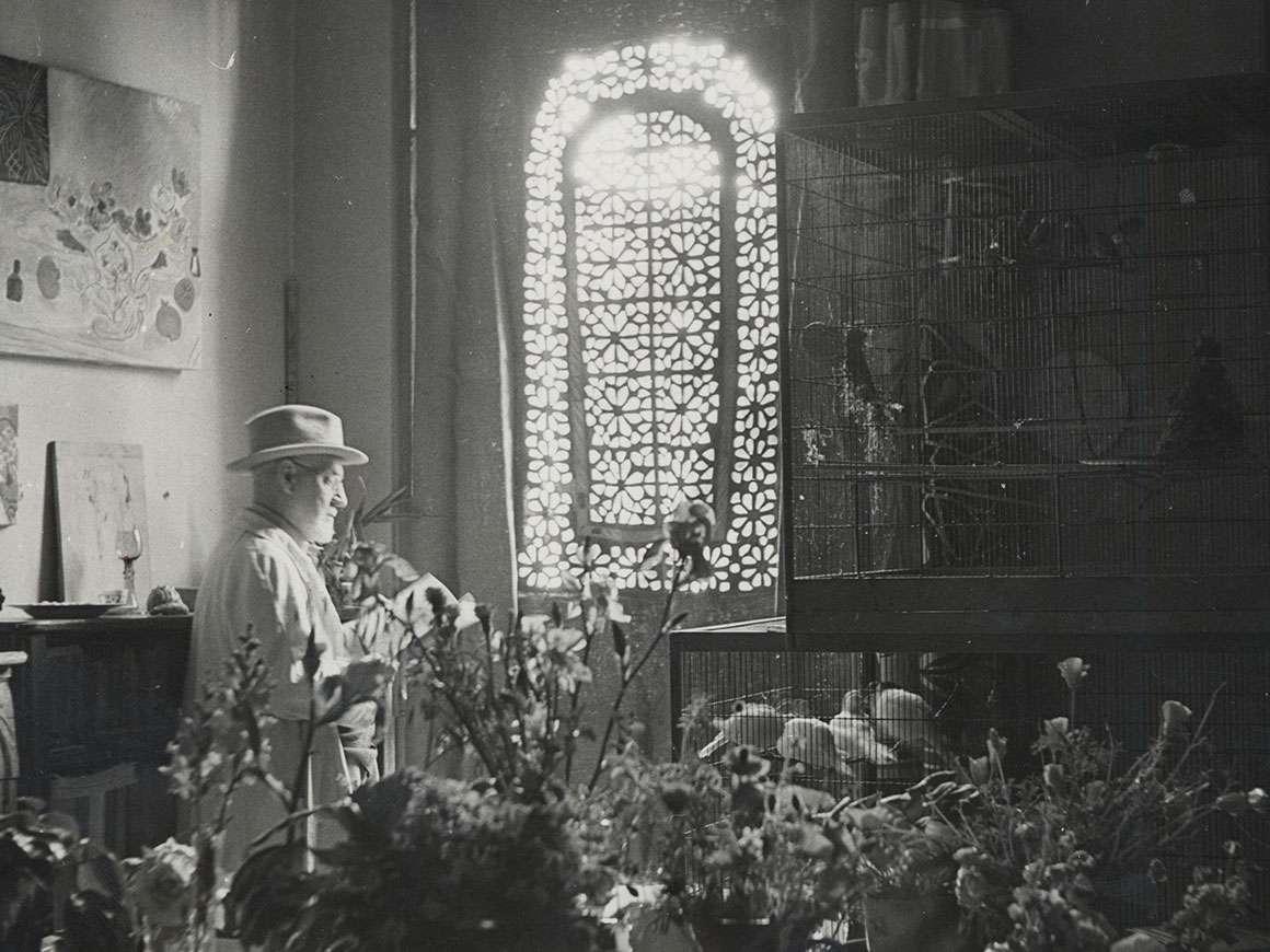 Photograph of Henri Matisse at Villa La Reve in Vence