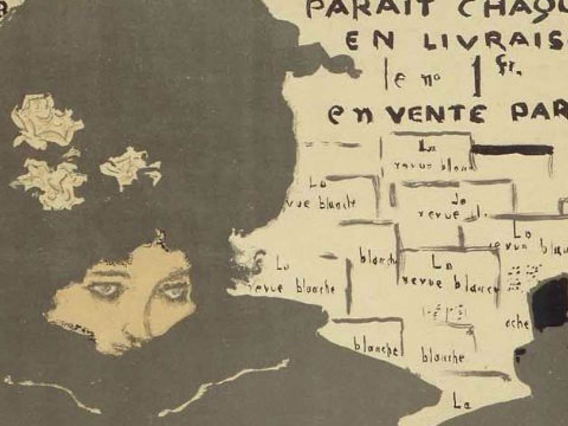 "Detail of poster for ""La Revue Blanche"""
