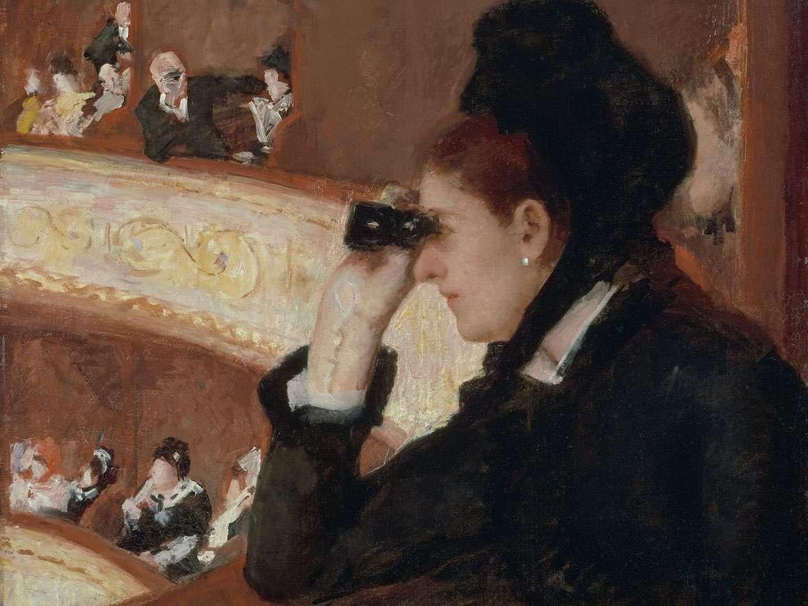 玛丽卡萨特,在1868年的Loge