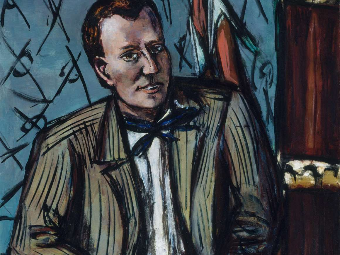 Detail of Max Beckmann's portrait of Perry T. Rathbone