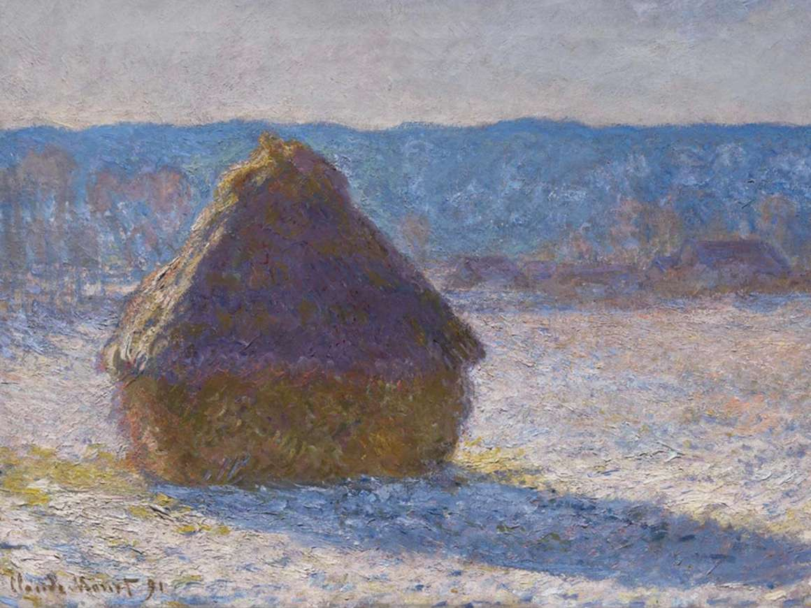 Claude Monet's painting, Grainstack (Snow Effect)