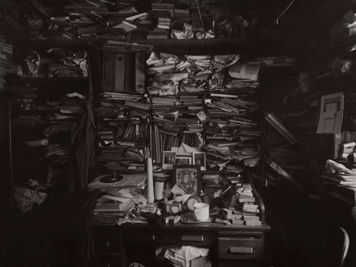 Detail of Josef Sudek's photograph, Labyrinth in my Atelier