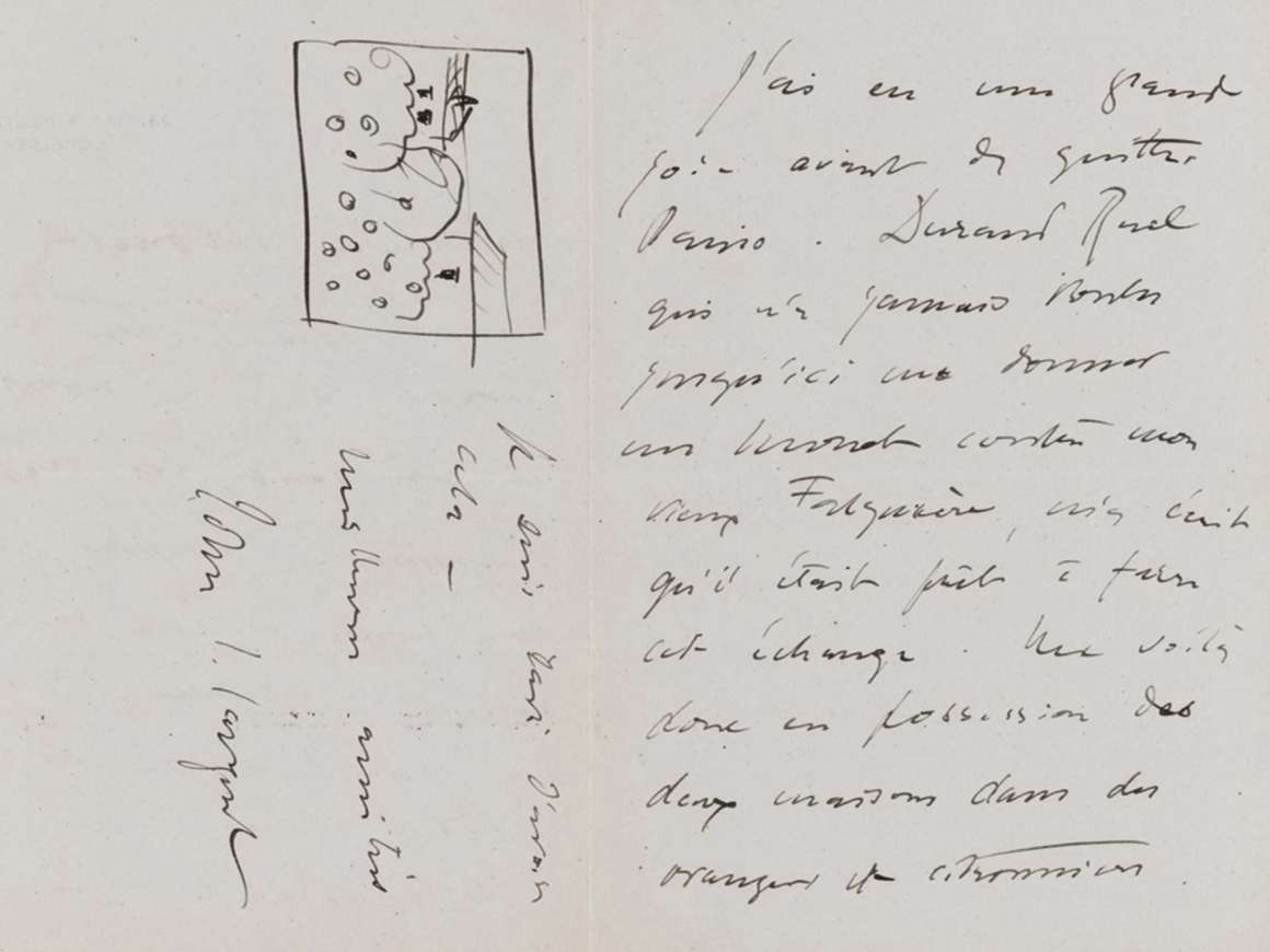 John Singer Sargent, John Singer Sargent to Claude Monet, September 1 [1891], from 33 Tite St., London, 1891
