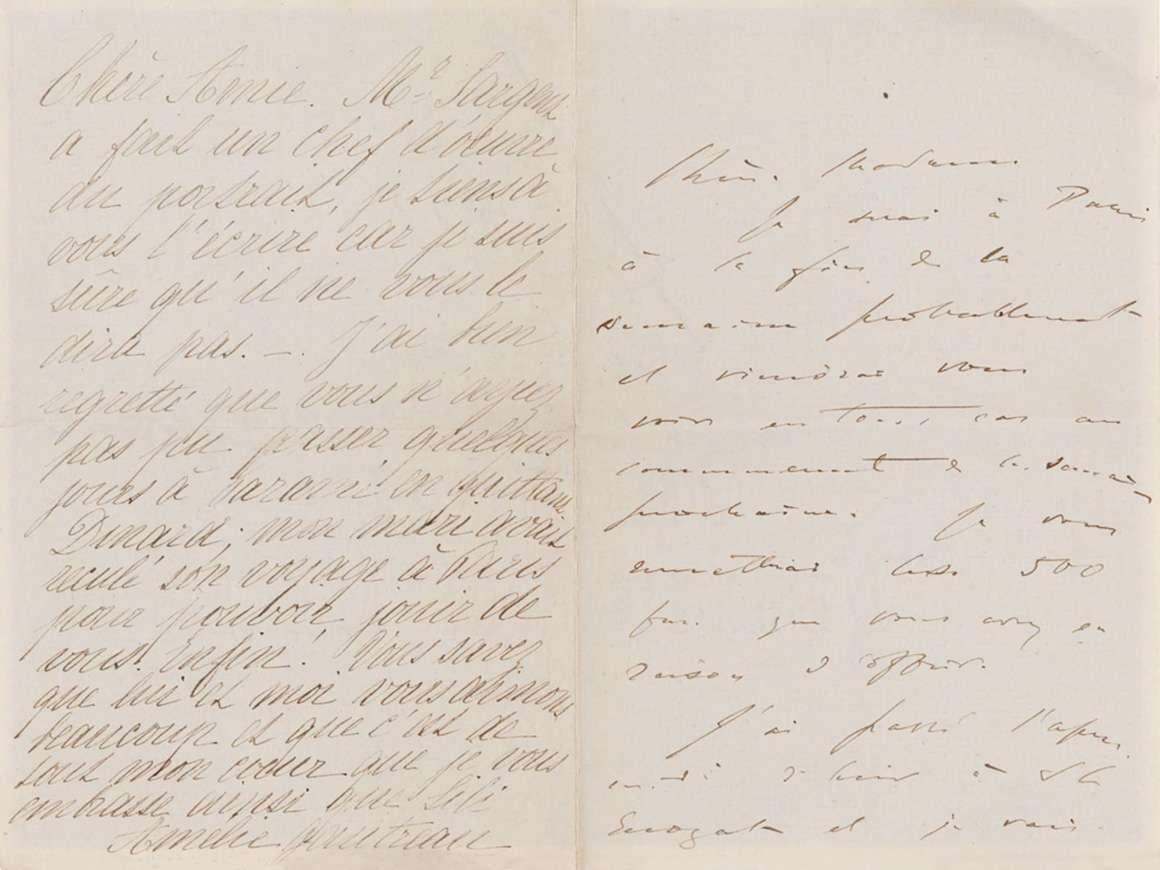 SC.Sargent Archives.1, John Singer Sargent and Amélie Gautreau to Emma-Marie Allouard-Jouan, late summer 1883