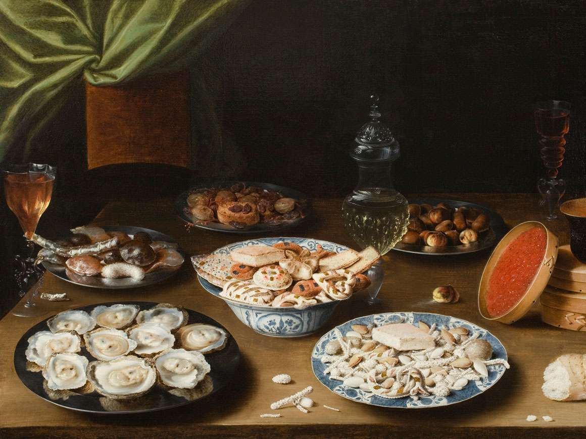 Detail of Osias Beert's painting, Still Life with Various Vessels on a Table