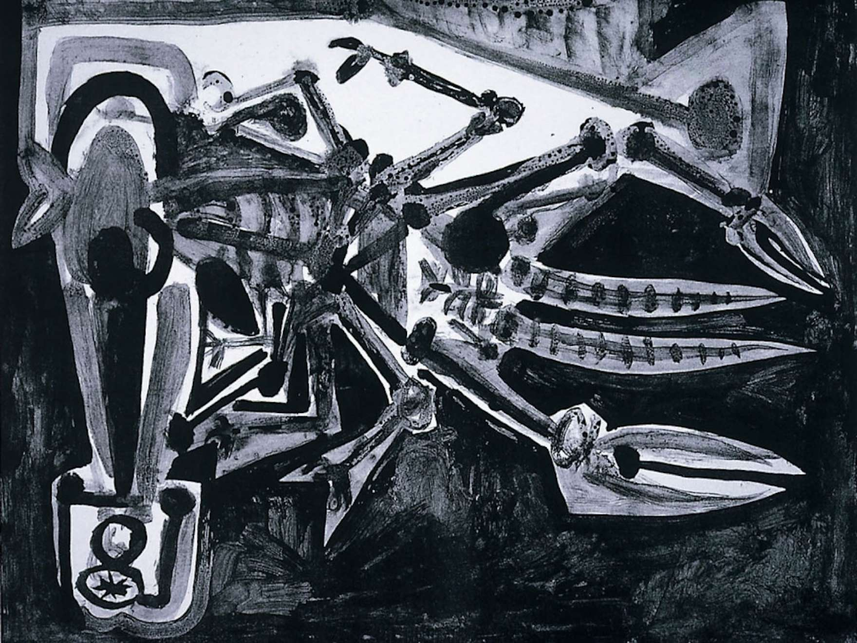 Detail of Pablo Picasso's print, Le Homard (The Lobster)