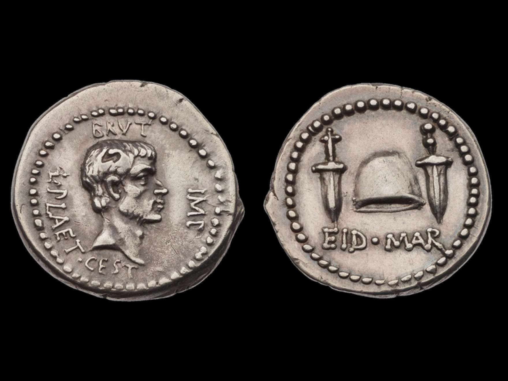 [Ides of March denarius]