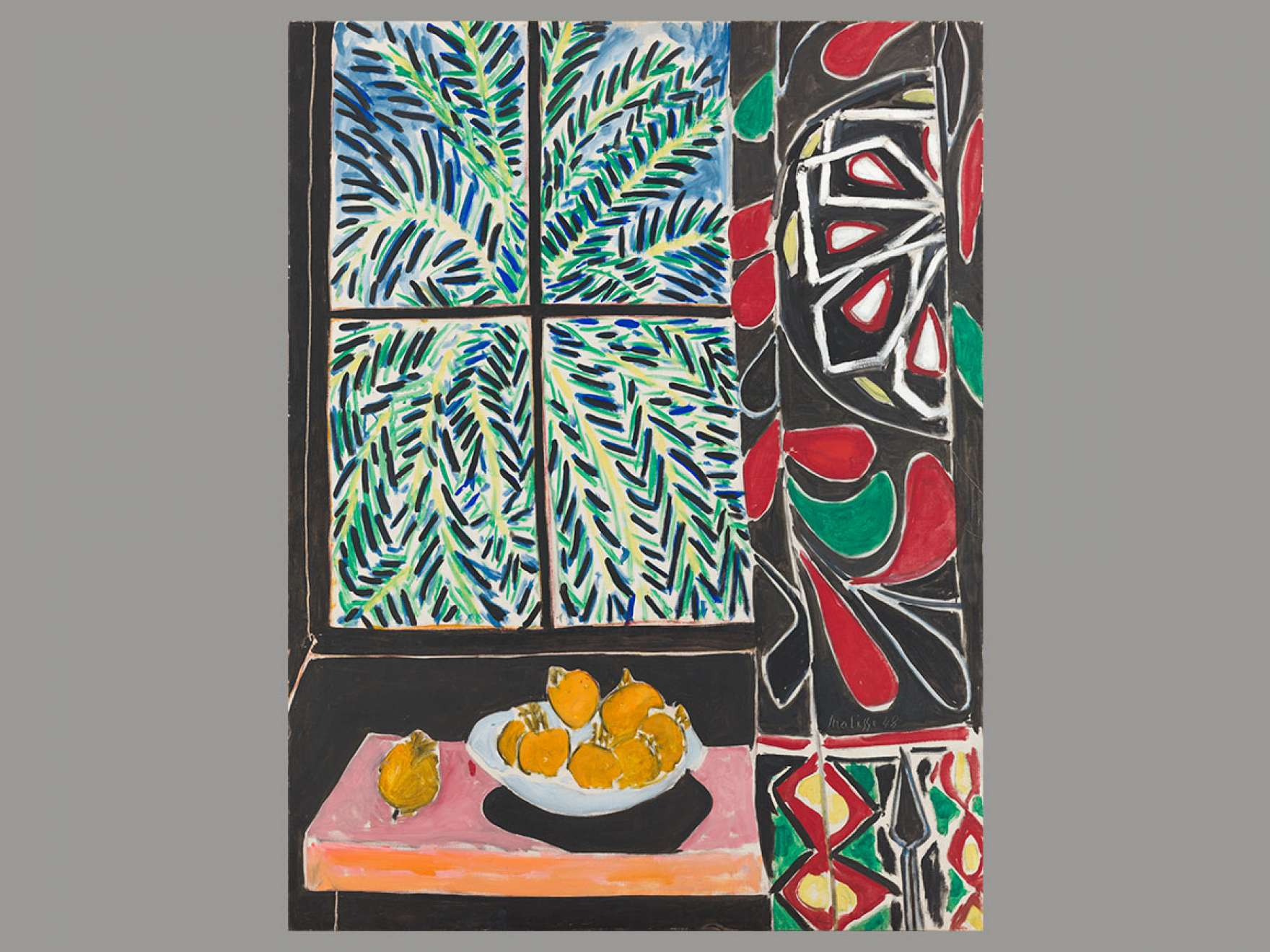 Henri Matisse's painting, Interior with Egyptian Curtain