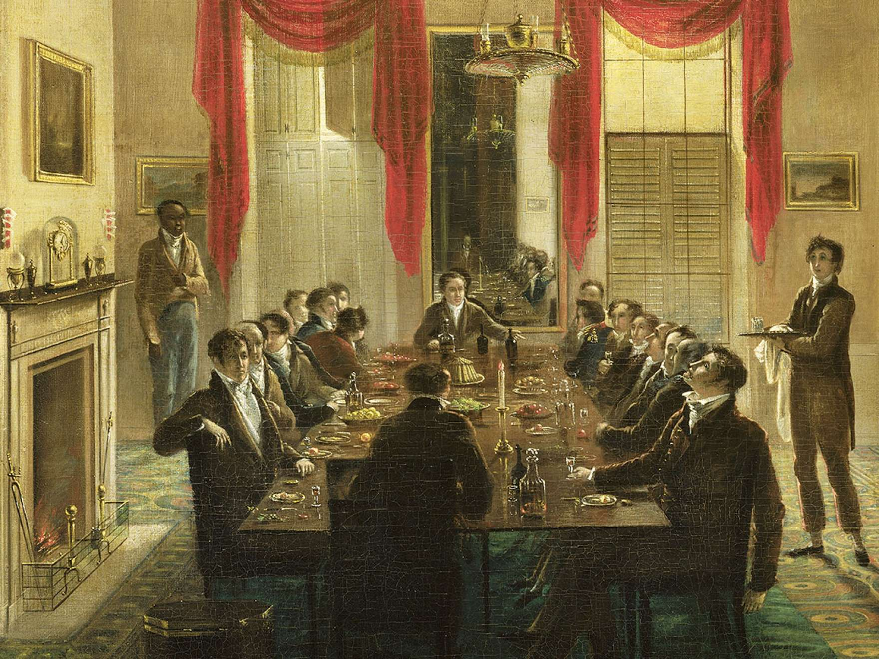 Detail of Henry Sargent's painting, The Dinner Party