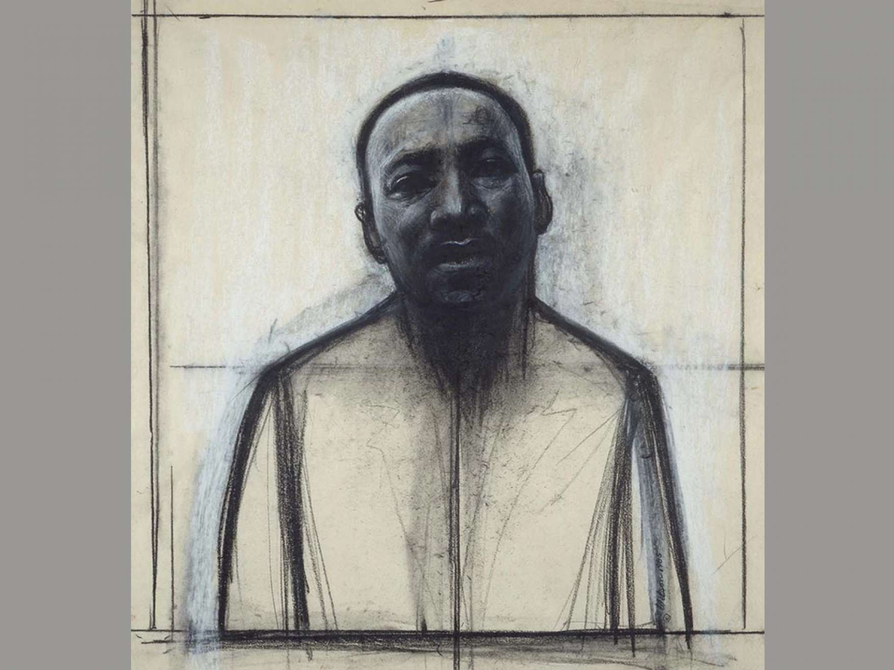 John Wilson's drawing, Dr. Martin Luther King, Jr.