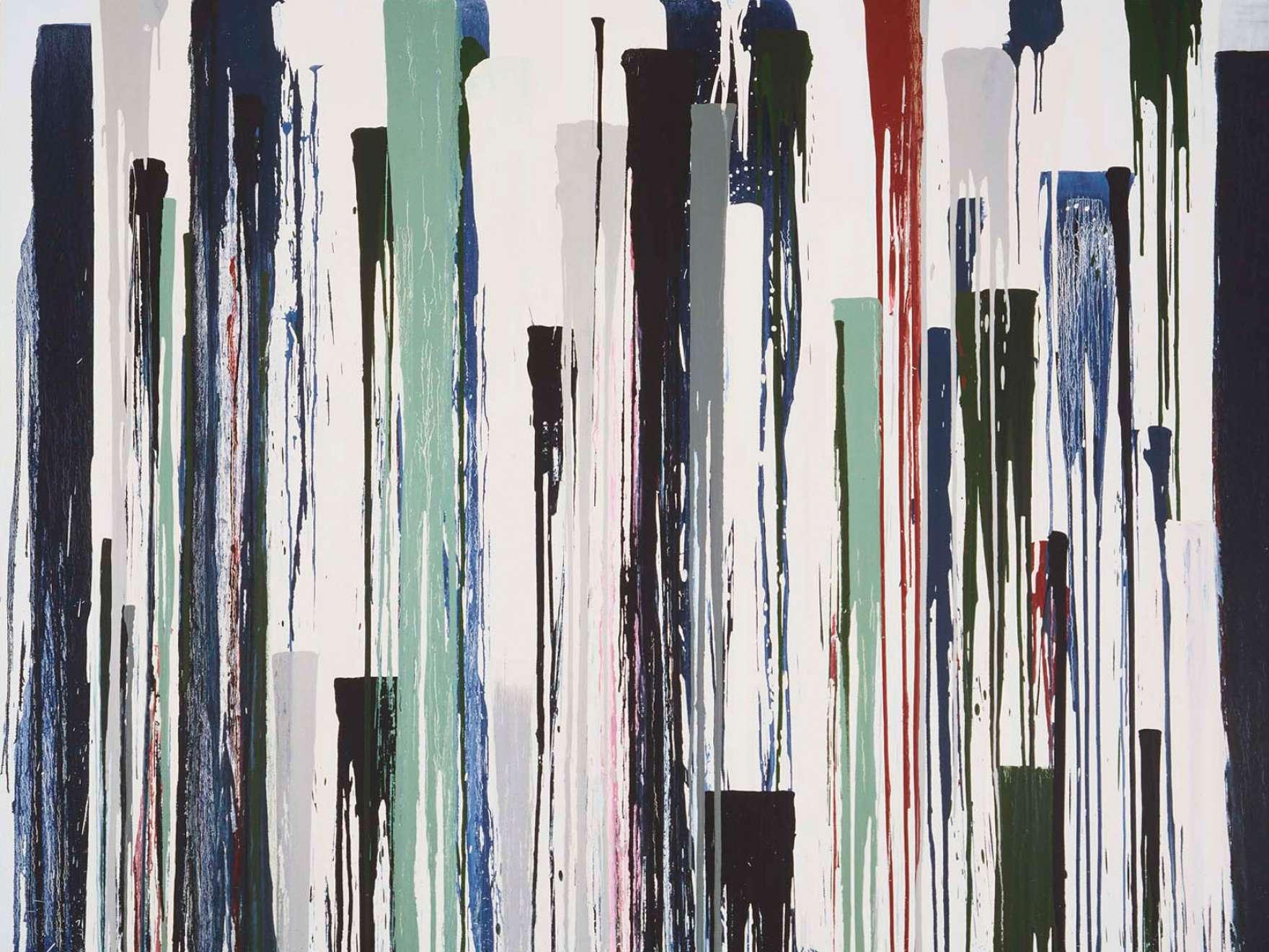 Jacqueline Humphries, Antic (detail), 1994