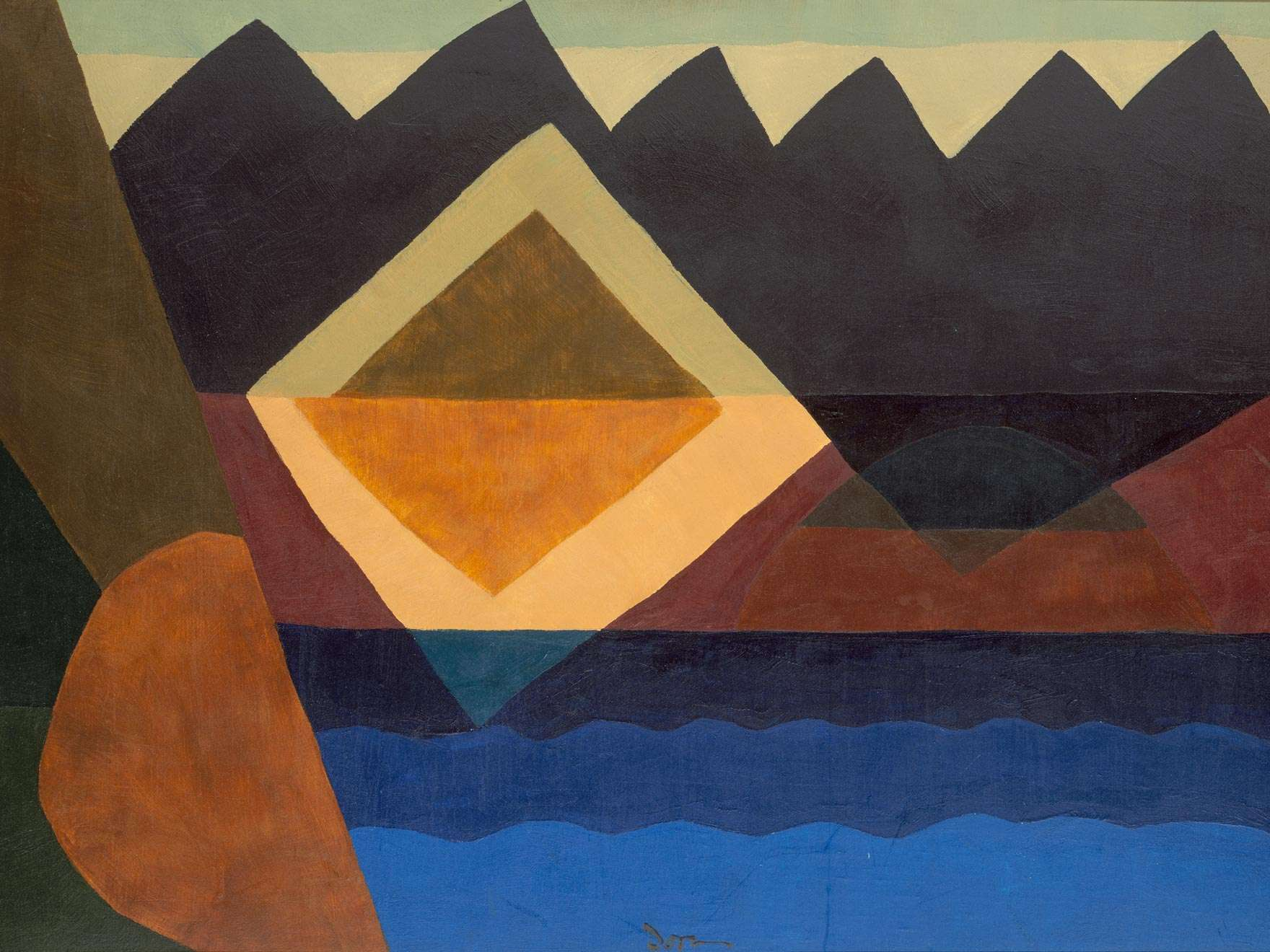 Arthur Garfield Dove's painting, Square on the Pond