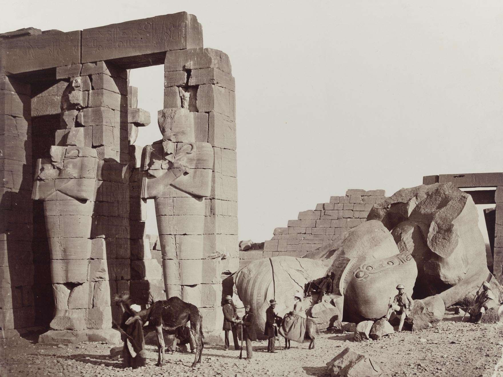 Francis Frith's photograph of the Ramesseum of El-Kurnehin Thebes
