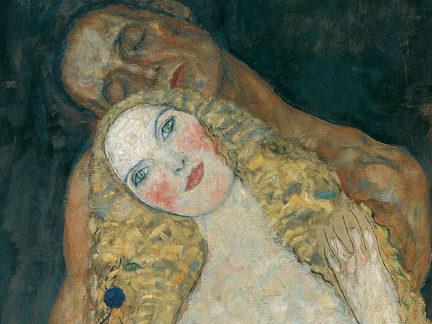 Gustav Klimt, Adam and Eve (detail) , 1917–18