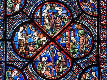 stock image from chartres cathedral