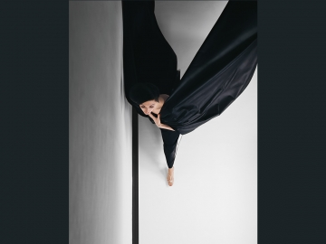 Hiro, Black Evening Dress in Flight, 1963