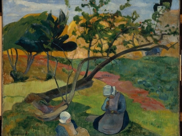 Landscape with Two Breton Women