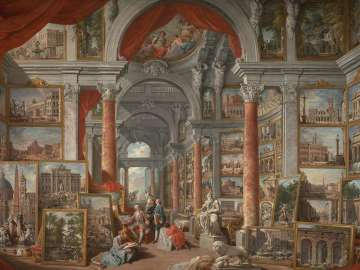 Giovanni Paolo Pannini, Picture Gallery with Views of Modern Rome, 1757