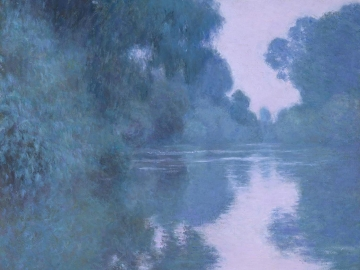 Impressionist painting of Seine River by Claude Monet