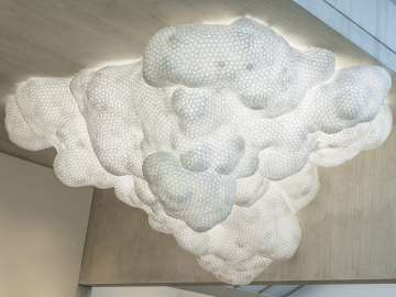 Tara Donovan's sculpture, in the shape of a cloud