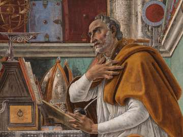 Sandro Botticelli's painting, Saint Augustine in His Study, about 1480