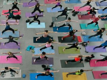 Namaste Saturday at the MFA