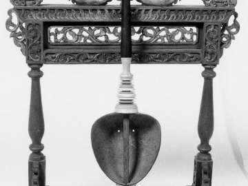 Fiddle and stand (rebab pontang)