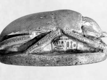 Commemorative scarab of Akhenaten and Nefertiti
