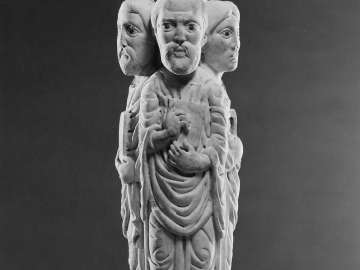 Pillar from a Pulpit (with three Evangelists)