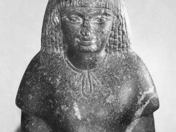 Fragmentary statuette of an official