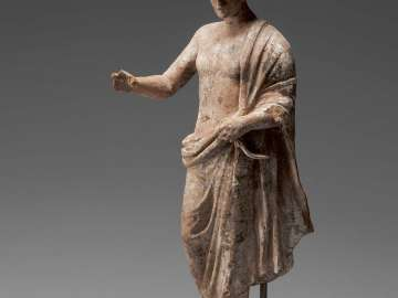 Statuette of a young athlete holding a strigil